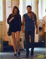 Adam &amp; Behati leaving Blue Ribbon restaurant in the Soho neighborhood of New York - adam-levine photo