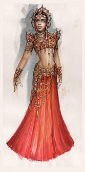Akasha - costume concept art