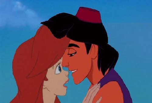 aladdin and ariel achtergrond titled AladdinxAriel ♥