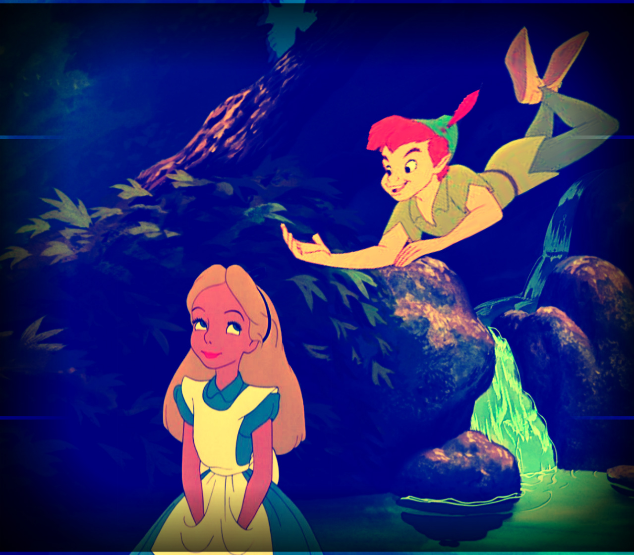 Peterpan alice images alice and peterpan hd wallpaper and background photos 31471835 - Image peter pan ...