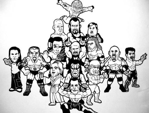 All stars wwe fan art