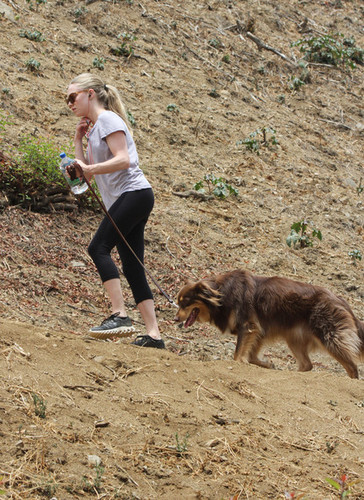 Amanda Seyfried Takes A Hike With Fin [July 13]