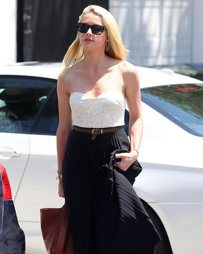 Amber Heard out in Los Angeles on July 11