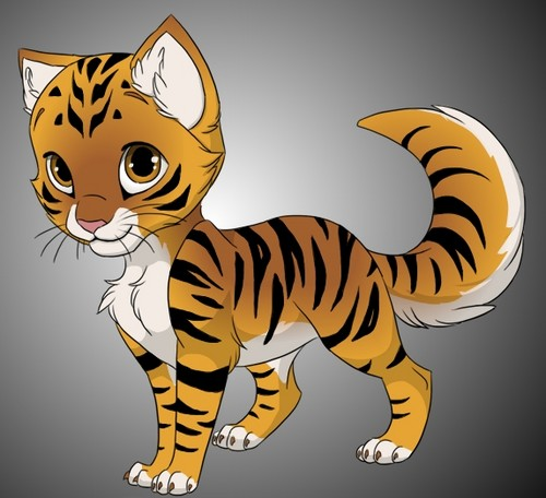 Amber as a Tiger Kitten!
