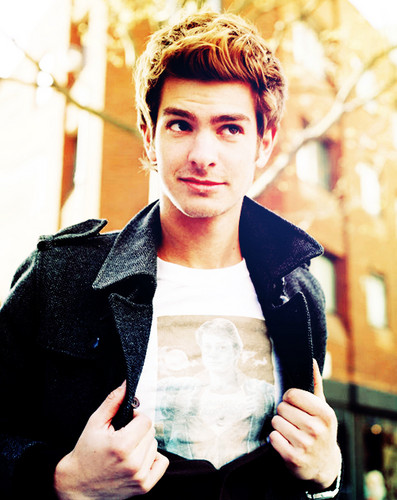 Andrew Garfield karatasi la kupamba ukuta probably containing an outerwear and a box kanzu, koti entitled Andrew :::***