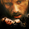 Lord of the Rings photo probably with a portrait called Aragorn icons.