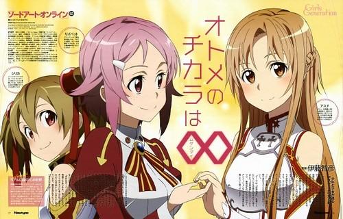 Asuna, Rika and Keiko