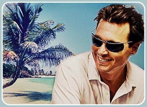 Johnny Depp images At the beach with Johnny :) wallpaper and background photos