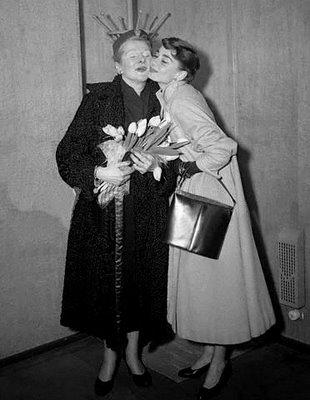 Audrey Hepburn And Her Mother