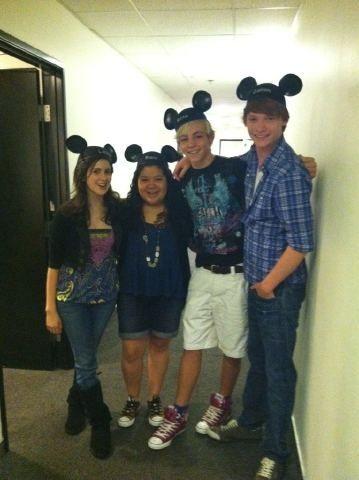 Austin Ally cast And Marafiki at Disney land