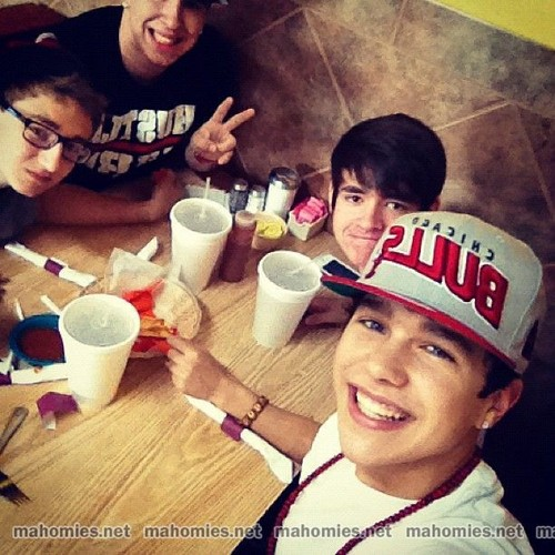 Austin Mahone with his crew