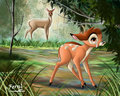 Bambi and Mom