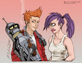 Bender, Fry and Leela - futurama fan art