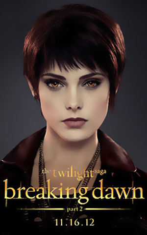"""Ashley Greene wallpaper probably with a portrait entitled Better Quality version of Ashley's """"The Twilight Saga: Breaking Dawn, part 2"""" character poster."""