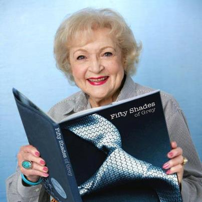 Fifty Shades-Trilogie Hintergrund containing a laptop entitled Betty White reads Fifty Shades too!
