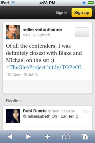 Blelllie/Michelle Tweet