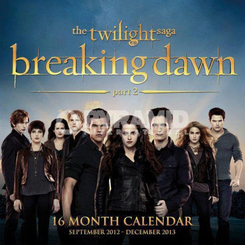 Breaking Dawn part 2 callendar 2013