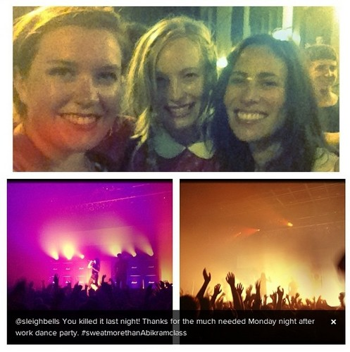Candice at a 'Sleigh Bells' concert [New instagram photo]