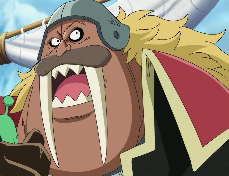 Captain Isle One's face