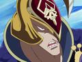 Captain Ramba's face