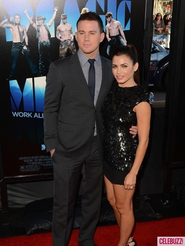 Channign Tatum and Jenna Dewan at 'Magic Mike' premiere
