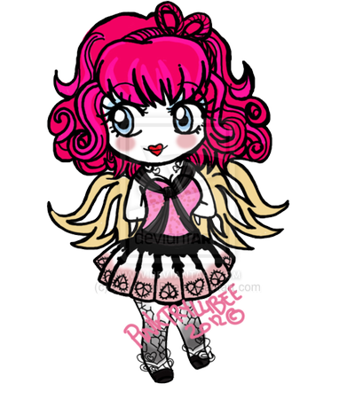 Monster High wallpaper probably with a red cabbage and anime entitled Chibi