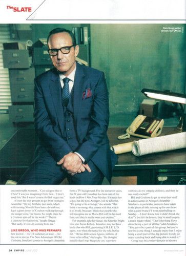 Agent Phil Coulson wallpaper containing a business suit and a well dressed person called Clark Gregg Magazine Interview