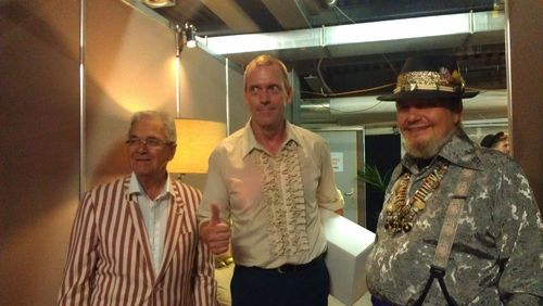 Claude Nobs, founder and general manager of the famous Montreux Jazz Festival, Hugh Laurie e Dr John