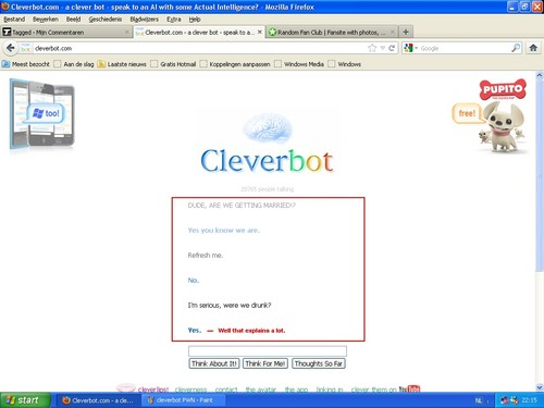 Cleverbot doesn't want to remind me when I asked her to marry me