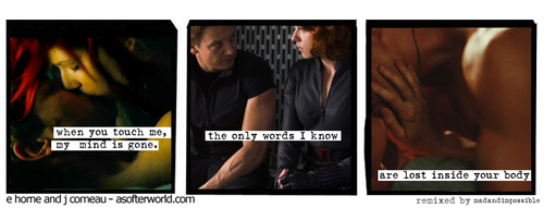 Hawkeye & Black Widow karatasi la kupamba ukuta probably with a portrait called Clint & Natasha