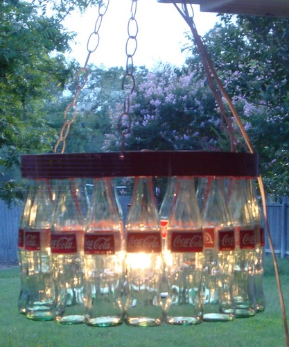Coke Bottle Chandelier - coke Photo