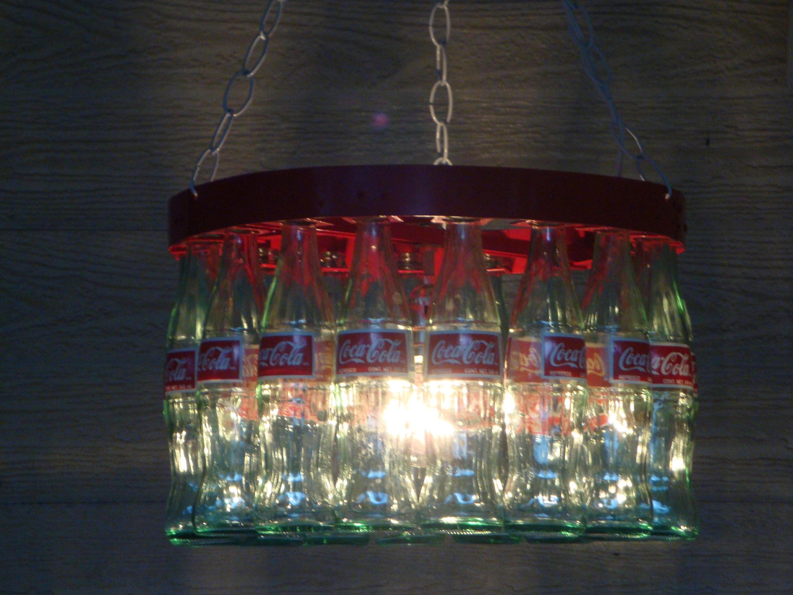 Coca-Cola Bottle Chandelier