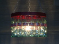 coca cola Bottle Chandelier