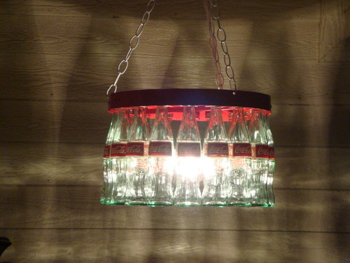 Coke Bottle Chandelier