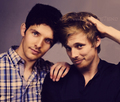 Colin Morgan &amp; Bradley James - merlin-on-bbc photo