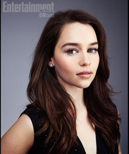 Game of Thrones wallpaper containing a portrait titled Comic-Con 2012 Star Portraits- Emilia Clarke