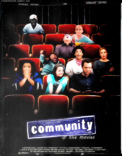 Community wallpaper possibly containing anime titled Community at the movies