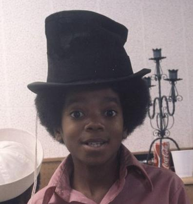Cute Michael with a silly hat :)