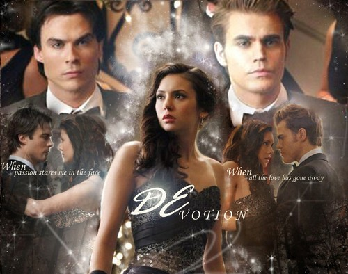 Damon&Elena and Ian&Nina wallpaper containing a portrait titled DEvotion