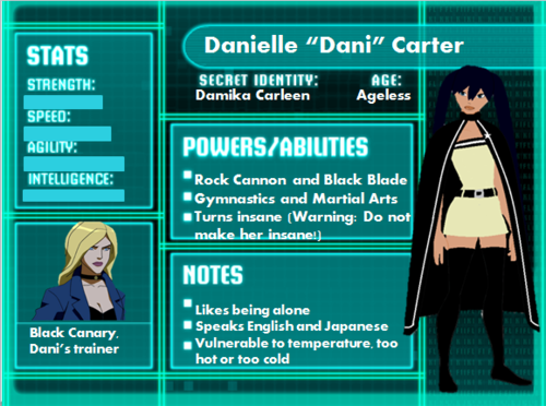 Young Justice OC'S!!! wallpaper called Dani Carter bio