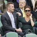 David and Victoria in the Royal Box on Centre Court during the Wimbledon Championships final - the-beckhams photo