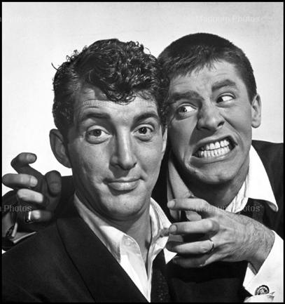 Dean Martin Обои with a business suit entitled Dean Martin & Jerry Lewis