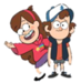Dipper+Mabel - gravity-falls icon