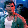 Patrick Swayze photo possibly with a workwear and a portrait entitled Dirty Dancing