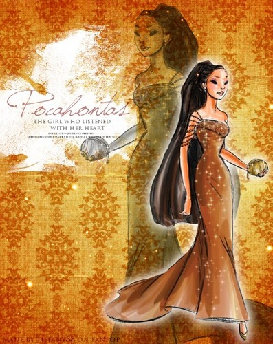 Disney Designer Princesses: Pocahontas - disney-princess Fan Art