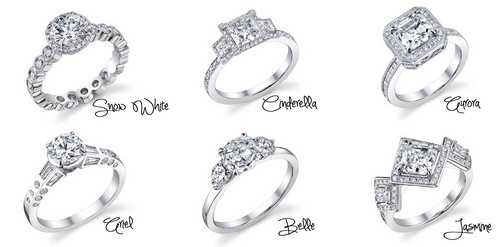 ডিজনি Princess Inspired Engagement Rings