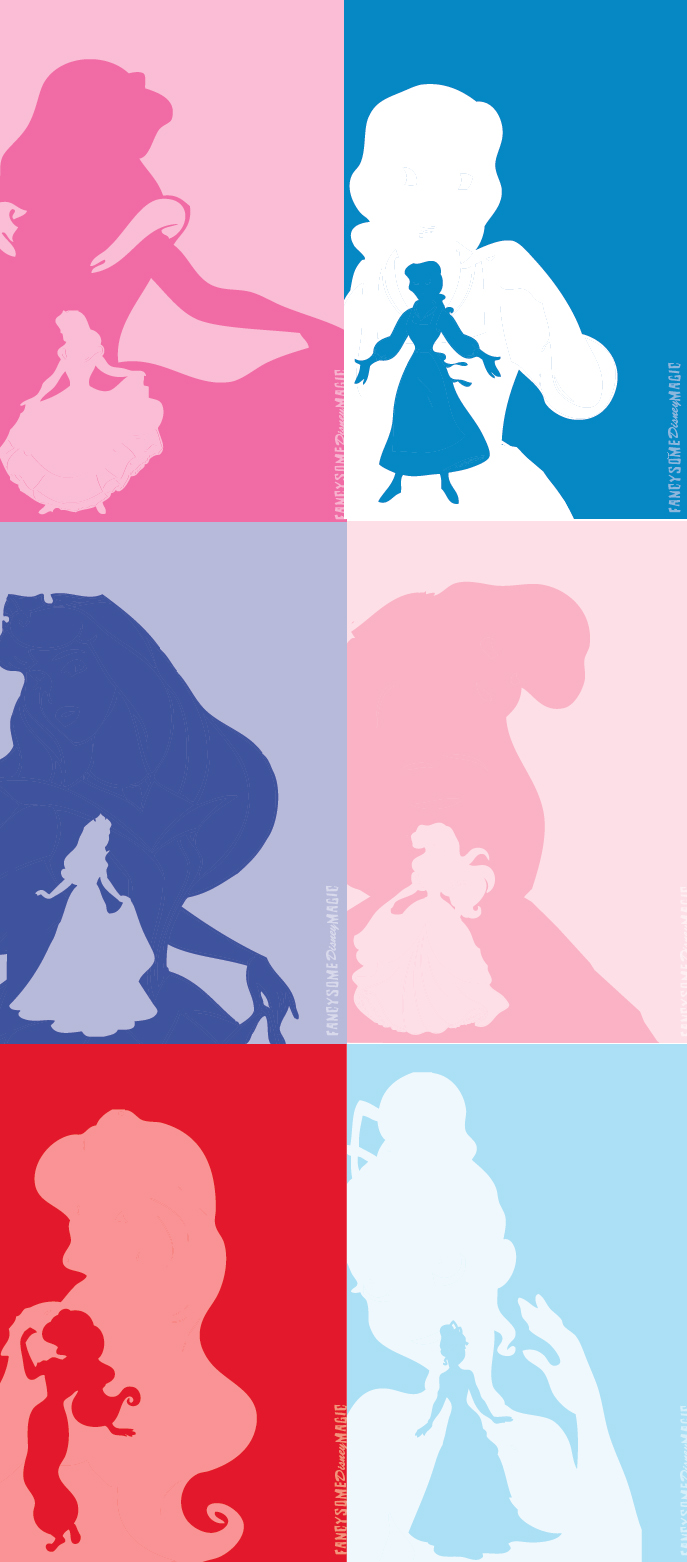 More Disney Princess Silhouettes
