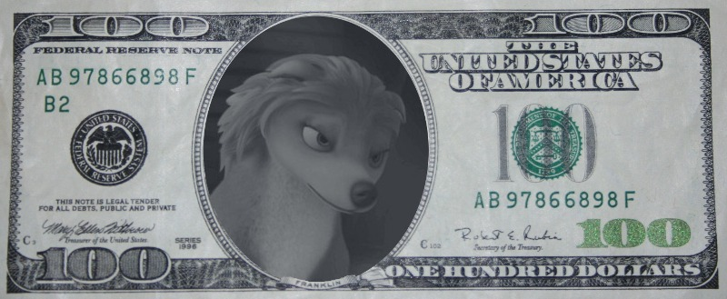 Dollar Bill Kate :D