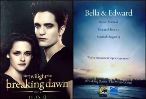 Edward and Bella - promo cards from Comic Com