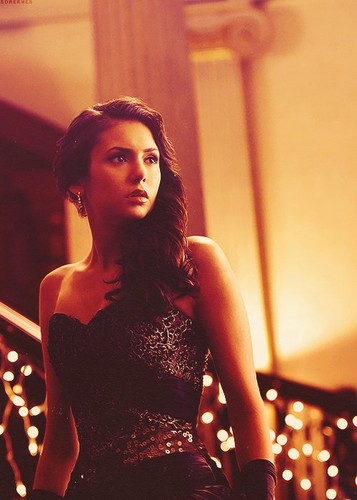 karakter wanita di tv wallpaper possibly with a koktil, koktail dress entitled Elena Gilbert